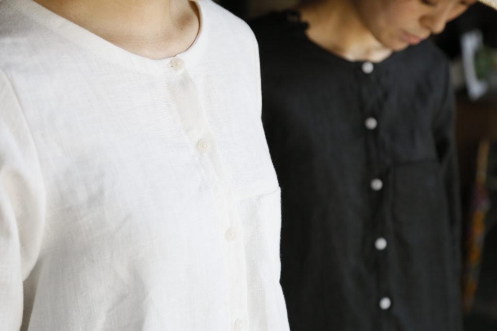 天然素材の衣類/hoku リネンのプルオーバー