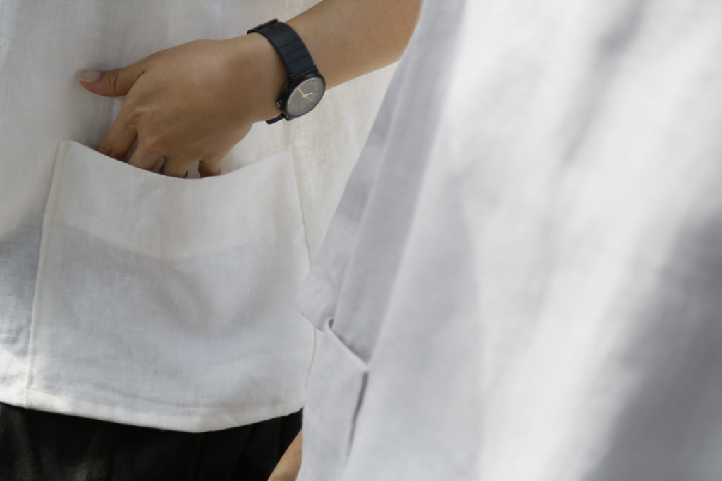 天然素材の衣類/hoku